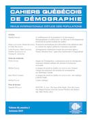 Aperçu de la couverture de « Cahiers québécois de démographie »