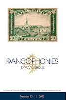 "Cover image for ""Francophonies d'Amérique"""