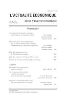 """Cover preview of """"L'Actualité économique"""""""