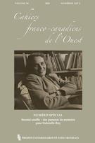Aperçu de la couverture de « Cahiers franco-canadiens de l'Ouest »