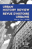 "Cover preview of ""Urban History Review"""