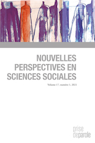 "Cover preview of ""Nouvelles perspectives en sciences sociales"""
