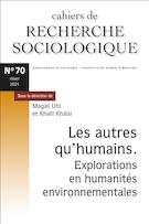 "Cover preview of ""Cahiers de recherche sociologique"""