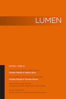 """Cover preview of """"Lumen: Selected Proceedings from the Canadian Society for Eighteenth-Century Studies / Lumen : travaux choisis de la Société canadienne d'étude du dix-huitième siècle"""""""