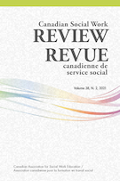 "Cover preview of ""Canadian Social Work Review / Revue canadienne de service social"""