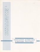 Cover of Volume 1, Number 1, Fall 1992, pp. 1-24, Bulletin d'histoire politique