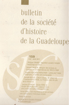 Cover of Number 159, May–August 2011, pp. 3-104, Bulletin de la Société d'Histoire de la Guadeloupe