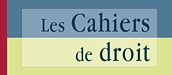Logo for the journal Les Cahiers de droit