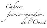 Logo for Cahiers franco-canadiens de l'Ouest