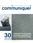 Cover for issue 'Number 30, 2020' of the journal 'Communiquer'