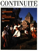 Cover of Lanaudière, Number 43, Spring 1989, pp. 4-66, Continuité
