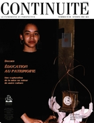 Cover of Éducation au patrimoine, Number 57-58, Fall 1993, pp. 4-62, Continuité