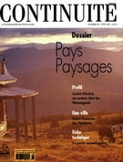 Cover of Pays paysages, Number 65, Summer 1995, pp. 4-66, Continuité