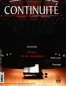Cover of Échos de la musique, Number 91, Winter 2001–2002, pp. 3-62, Continuité