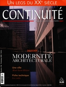 Cover of Modernité architecturale, Number 104, Spring 2005, pp. 3-58, Continuité