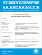 Cover forthe thematic issueDémographie et main-d'oeuvre