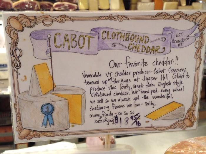 Sign for Cabot Clothbound Cheddar