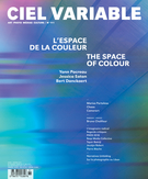 Cover of L'espace de la couleur, Number 111, Winter 2019, pp. 5-106, Ciel variable