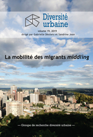 Cover forthe thematic issueLa mobilité des migrants middling