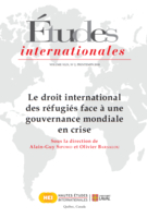 Cover forthe thematic issueLe droit international des réfugiés face à une gouvernance mondiale en crise