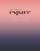 Cover for issue 'Climatologie' of the journal 'Espace'