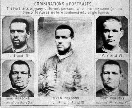 Portrait composite, « Features common among men convicted of crimes of violence », Francis Galton, 1885