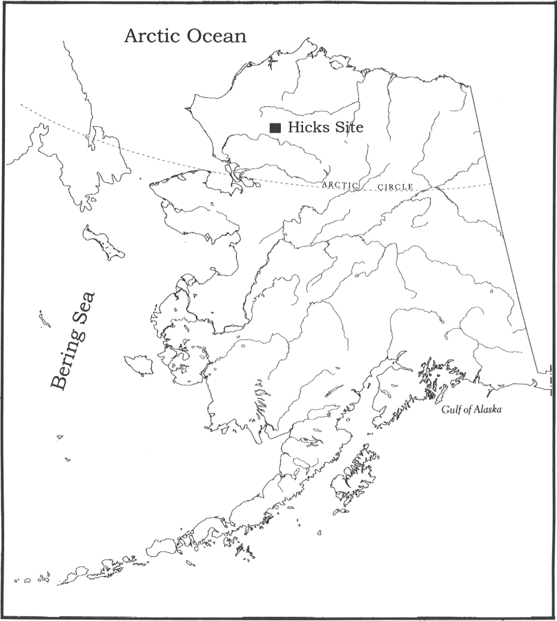 Location of the Hicks site in Alaska
