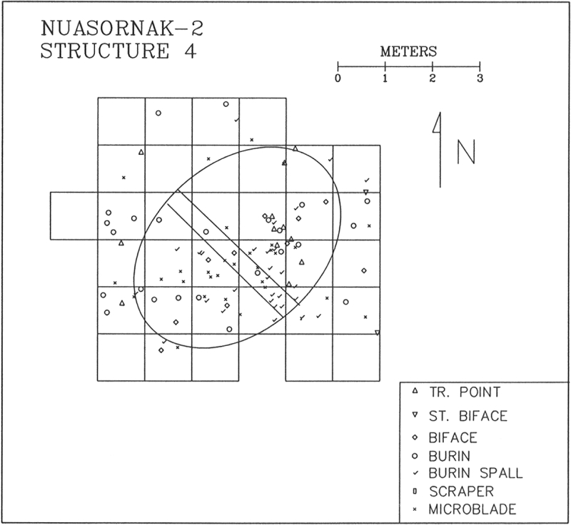 Nuasornak-2, Structure 4 artifact distribution