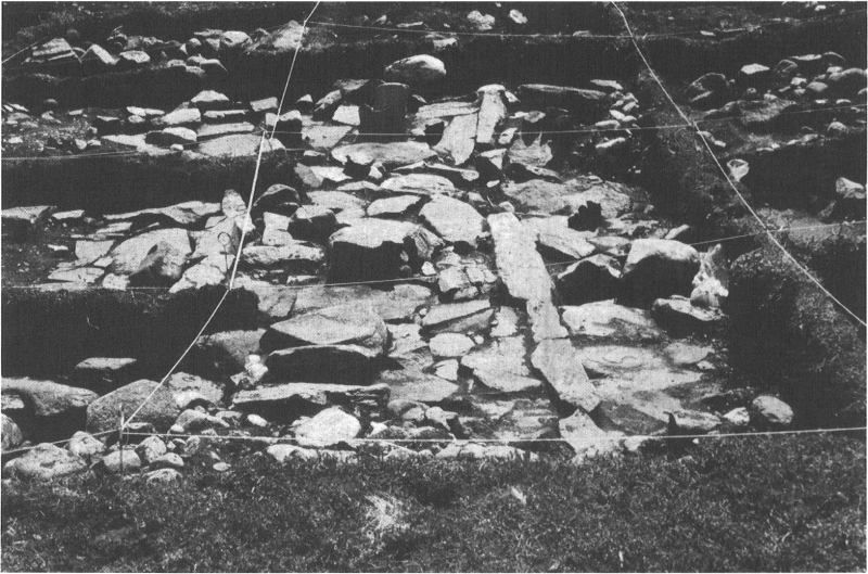 Okak-3 house, view of axial structure to south