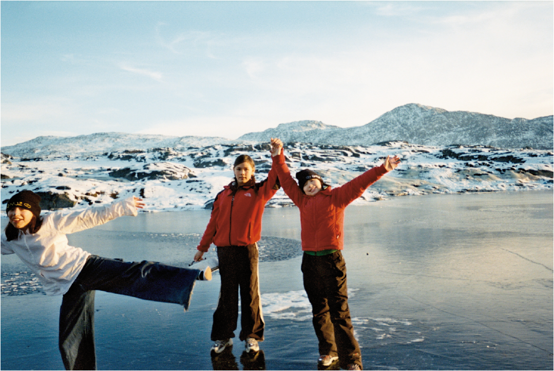 Example of a punctum picture celebrating play and friendship. Photo by a 13 years old girl from Nuuk (CAM II, 9: 24).