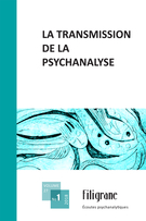 Cover forthe thematic issueLa transmission de la psychanalyse