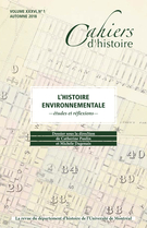 Cover forthe thematic issueL'histoire environnementale