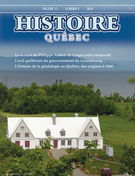Cover of Volume 15, Number 3, 2010, pp. 4-45, Histoire Québec