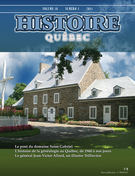 Cover of Volume 16, Number 3, 2011, pp. 4-45, Histoire Québec