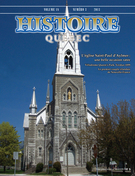 Cover of Volume 18, Number 3, 2013, pp. 4-46, Histoire Québec