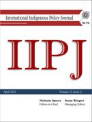 Cover for issue 'Volume 12, Number 2, 2021' of the journal 'The International Indigenous Policy Journal'
