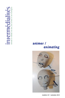 Cover of animer, Number 22, Fall 2013, Intermédialités
