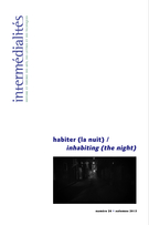 Cover of habiter (la nuit), Number 26, Fall 2015, Intermédialités