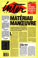Cover of Matériau manoeuvre, Number 47, 1990, pp. 1-62, Inter