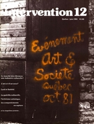 Cover of Number 12, June 1981, pp. 2-51, Intervention