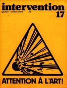 Cover of Attention à l'art!, Number 17, October 1982, pp. 5-57, Intervention