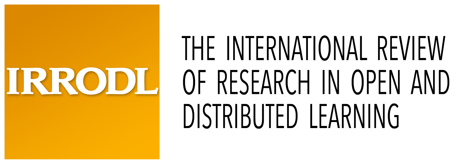 Logo for International Review of Research in Open and Distributed Learning