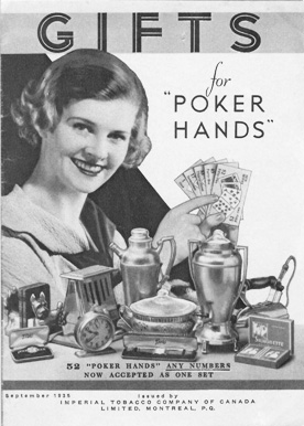 Imperial Tobacco 'Poker Hand' Premium Catalogue, September 1935.