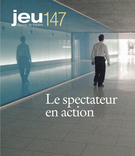 Cover of Le spectateur en action, Number 147 (2), 2013, pp. 4-176, Jeu