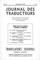 Cover forthe thematic issueTraduction automatique et informatique