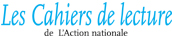 Logo for Les Cahiers de lecture de L'Action nationale