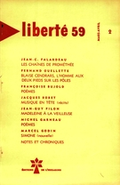 Cover of        Volume 1, Number 2, March–April 1959, pp. 69-142 Liberté