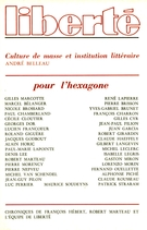 Cover of Pour l'Hexagone,        Volume 20, Number 6 (120), November–December 1978, pp. 3-132 Liberté
