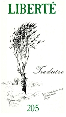 Cover of Traduire, Volume 35, Number 1 (205), February 1993, pp. 2-225, Liberté