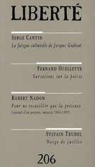 Cover of        Volume 35, Number 2 (206), April 1993, pp. 3-126 Liberté